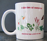 Memoir Writing Mug, Garden of memories, Mug for writers