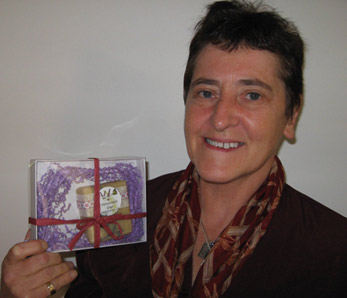 Mairi Neil with her contest prize -- Mindfulness Soap
