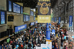 This is BookExpo America 2009, but it will give you a sense of the size of the event.