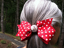 Rosie the Riveter Hair bow, HairLoom