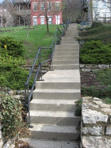 Old Steps Leading Up to Klotter Avenue
