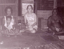 Lanie Tankard with Smaserui Family in Ngaremlengui Village