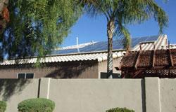 Solar home Phoenix solar Arizona installing solar panels robbins