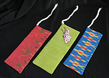 memoir bookmarks, Thai silk book marks, memoir writers, memoir writing