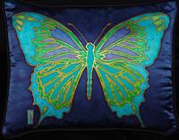 memoir gift, gift for memoir writer, art pillow, butterfly pillow