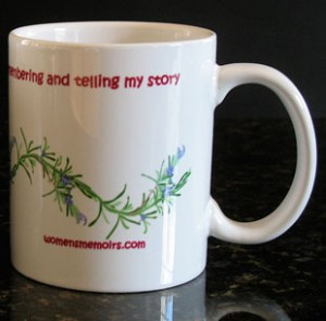 memoir mug, memoir writing mug, tea mug, writers tea mug