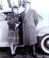 My parents, Maudie and George, in 1940