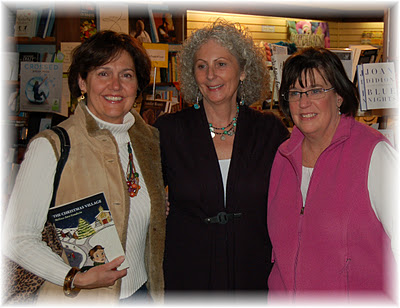 Melissa Ann Goodwin (center) at book signing