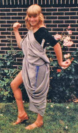 Halloween after Halloween I found unique and inexpensive ways to dress. Do you like my toga?