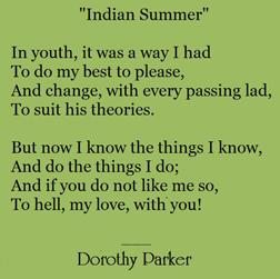 Dorothy-Parker-character, Dorothy Parker poem, memoir