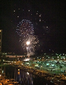 Hawaii-fireworks, memoir writing