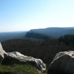 The Shawangunk Mountains in New Paltz, NY