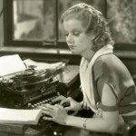 I just want to type! (Jean Harlow)