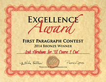 First Paragraph Contest Bronze Certificate