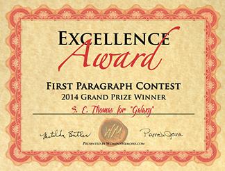 Memoir Contest Certificate