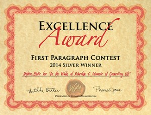 Memoir Writing Award Certificate