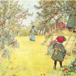 Meanwhile, I dreamed of a 19th Century country idyll (Painting by Carl Larsson)