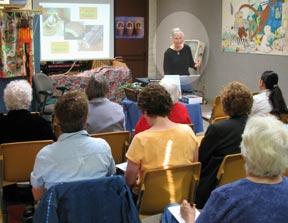 Matilda Butler teaching ScrapMoir Class